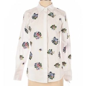 NWT Insight White Button Down Embroidered Shirt